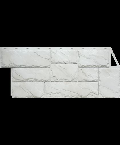 Фасадные панели (Цокольный Сайдинг) FineBer (Файнбир) Камень Крупный Мелованный белый