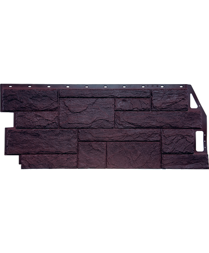 Фасадные панели FineBer Камень Природный Коричневый