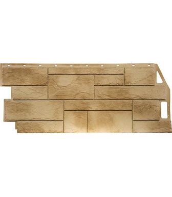 Фасадные панели FineBer Камень Природный Песочный