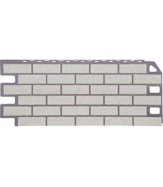 Фасадные панели FineBer Кирпич Мелованный белый
