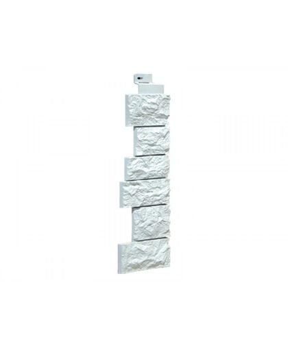 Угол наружный к Фасадным Панелям FineBer (Файнбир) Камень Дикий Жемчужный