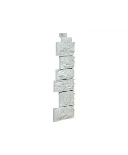 Угол наружный к Фасадным Панелям FineBer (Файнбир) Камень Дикий Мелованный белый