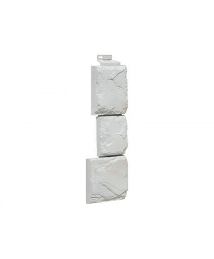 Угол наружный FineBer Камень Крупный Мелованный Белый