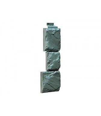 Угол наружный FineBer Камень Крупный Серо-зеленый
