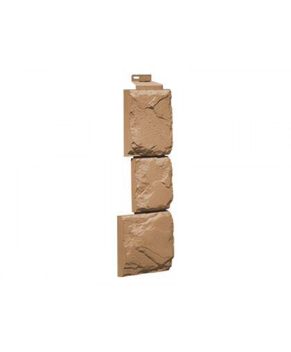 Угол наружный FineBer Камень Крупный Терракотовый