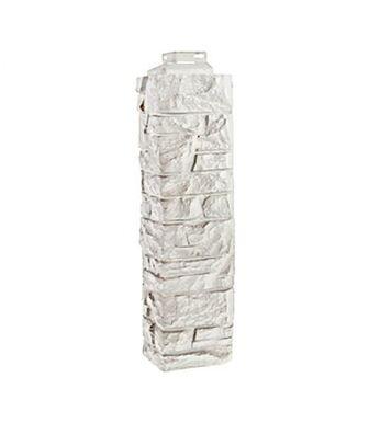 Угол наружный FineBer Скала Мелованный белый