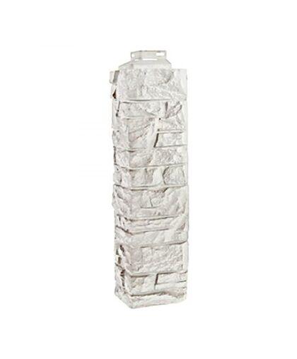 Угол наружный к Фасадным Панелям FineBer (Файнбир) Скала Мелованный белый