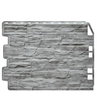 Фасадные панели Фасайдинг Дачный Скол 3D-Facture Светло-серый