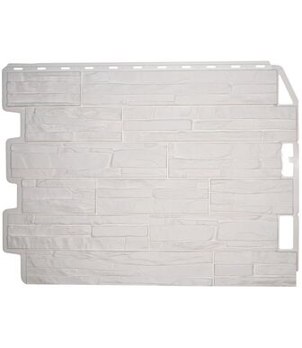Фасадные панели Фасайдинг Дачный Скол Белый
