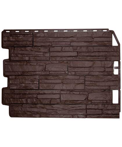 Фасадные панели Фасайдинг  Дачный Скол Тёмно-коричневый