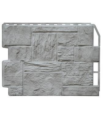 Фасадные панели Фасайдинг Дачный Туф 3D-Facture Светло-серый