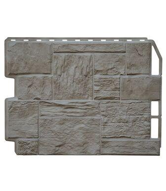 Фасадные панели Фасайдинг Дачный Туф 3D-Facture Светло-бежевый