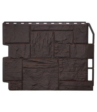 Фасадные панели Фасайдинг Дачный Туф 3D-Facture Темно-коричневый