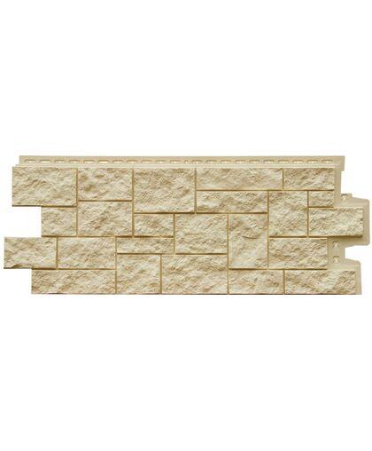 Фасадные панели (Цокольный Сайдинг) Grand Line Дикий Камень Бежевый