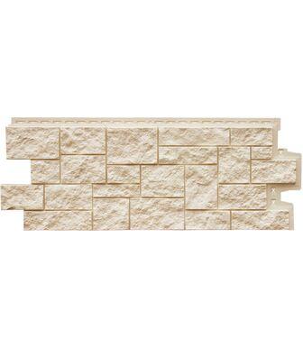 Фасадные панели Grand Line Дикий Камень Молочный