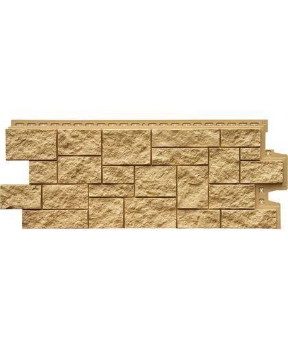 Фасадные панели (Цокольный Сайдинг) Grand Line Дикий Камень Песочный