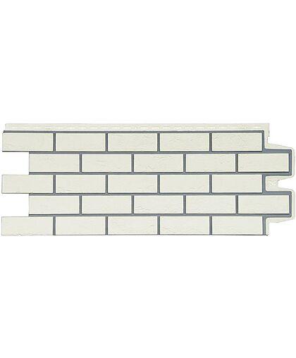 Фасадные панели (Цокольный Сайдинг) Grand Line Кирпич Состаренный Премиум Пломбирный