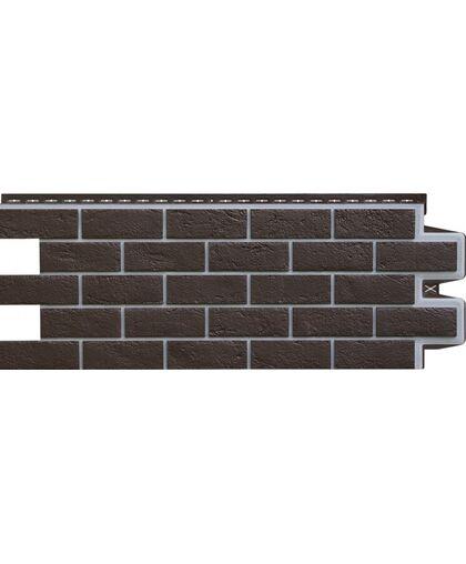 Фасадные панели (Цокольный Сайдинг) Grand Line Кирпич Состаренный Премиум Шоколад