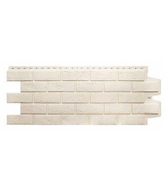 Фасадные панели Grand Line Кирпич Состаренный Молочный