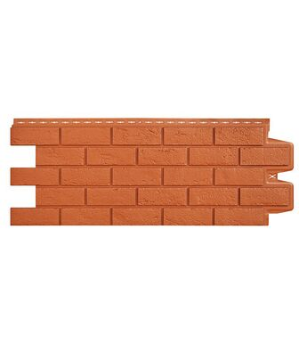 Фасадные панели Grand Line Кирпич Состаренный Терракотовый