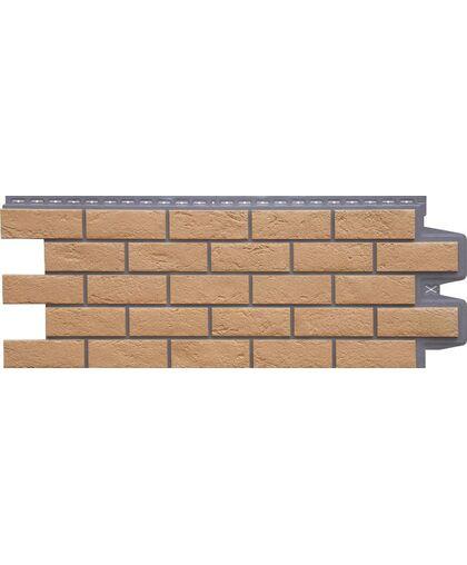 Фасадные панели (Цокольный Сайдинг) Grand Line Кирпич Состаренный Элит Солома