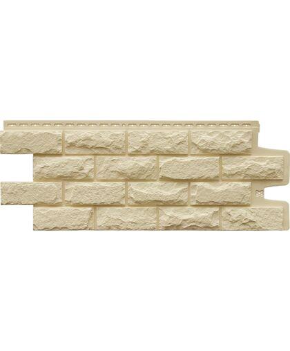Фасадные панели (Цокольный Сайдинг) Grand Line Колотый Камень Стандарт Бежевый
