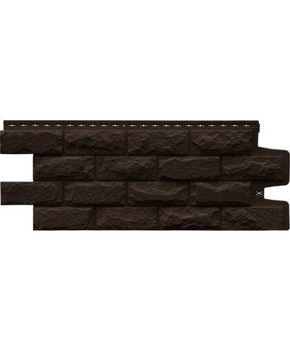 Фасадные панели (Цокольный Сайдинг) Grand Line Колотый Камень Стандарт Коричневый