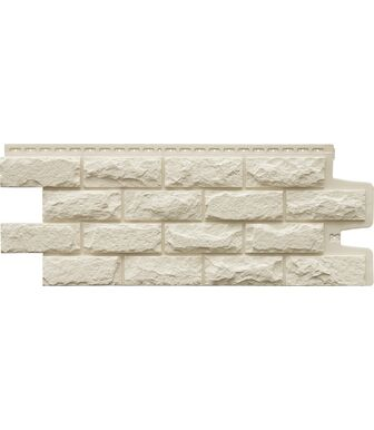 Фасадные панели Grand Line Колотый Камень Стандарт Молочный