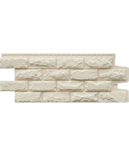 Фасадные панели (Цокольный Сайдинг) Grand Line Колотый Камень Стандарт Молочный