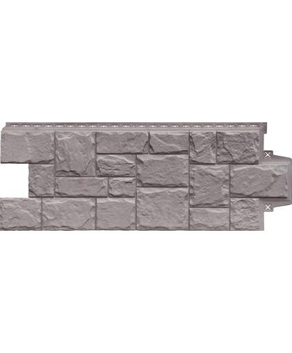 Фасадные панели (Цокольный Сайдинг) Grand Line Крупный Камень Элит Какао