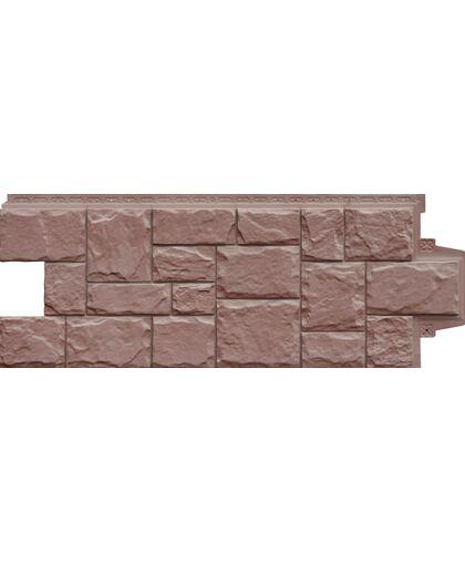 Фасадные панели Grand Line Крупный Камень Элит Миндаль
