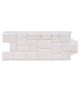 Фасадные панели Grand Line Крупный Камень Молочный