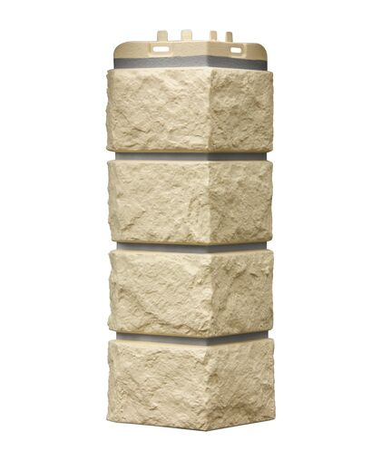Угол наружный к Фасадным Панелям Grand Line (Гранд Лайн) Колотый Камень Премиум Шампань