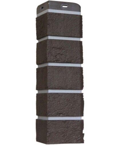 Угол наружный к Фасадным Панелям Grand Line (Гранд Лайн) Кирпич Состаренный Премиум Шоколад