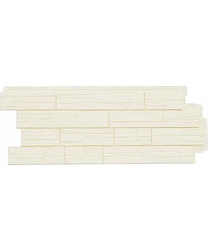 Фасадные панели (Цокольный Сайдинг) Grand Line Сланец Молочный