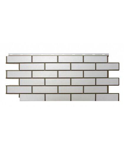 Фасадные панели Nordside Гладкий Кирпич Белый