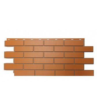 Фасадные панели Nordside Гладкий Кирпич Красный
