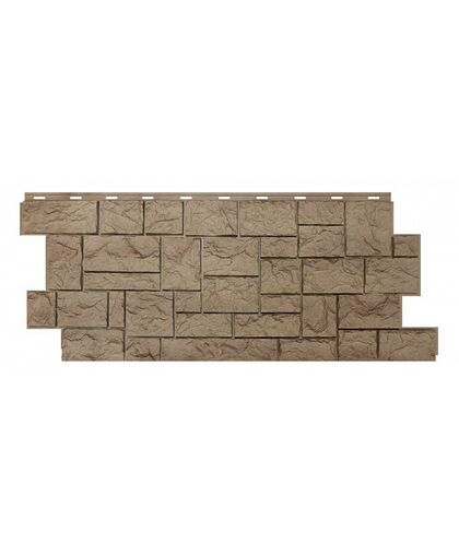 Фасадные панели (Цокольный Сайдинг) Nordside (Нордсайд) Северный Камень Песочный