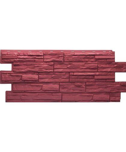 Фасадные панели (Цокольный Сайдинг) Т-Сайдинг (Техоснастка) Альпийская Сказка Красный