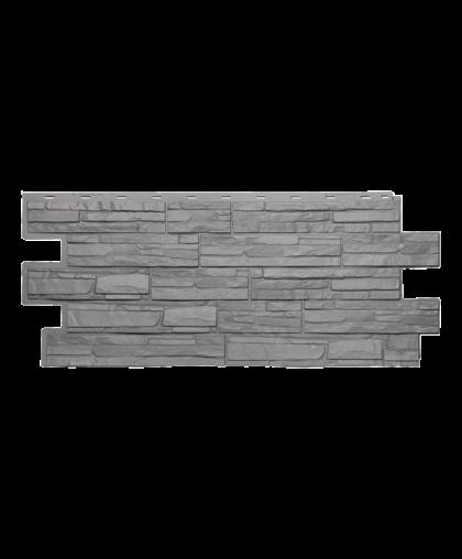 Фасадные панели Техоснастка  Альпийская Сказка Серый (одноцветный)
