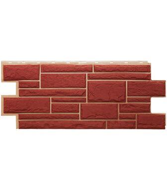 Фасадные панели Техоснастка  Дикий Камень Красный