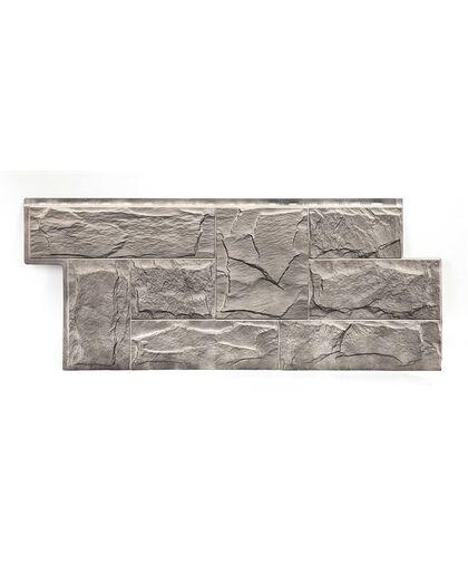 Фасадные панели (Цокольный Сайдинг) Т-Сайдинг (Техоснастка)  ЭКО 2 Гранит Леон Кавказ
