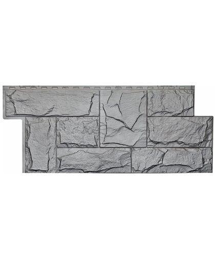 Фасадные панели Техоснастка  Гранит Леон Серый (одноцветный)