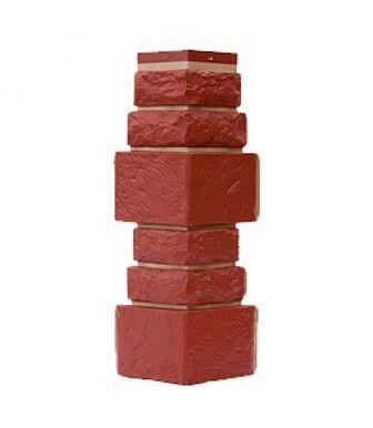 Угол наружный Т-Сайдинг (Техоснастка) Дикий Камень Красный