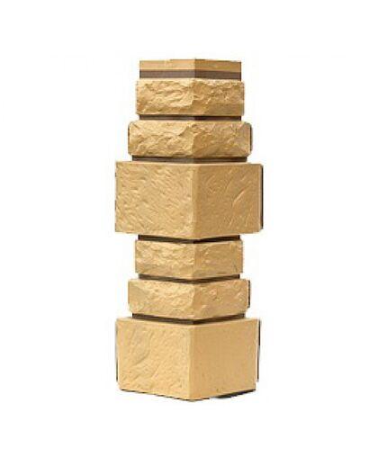Угол наружный к Фасадным Панелям Т-Сайдинг (Техоснастка) Дикий камень Пустынный