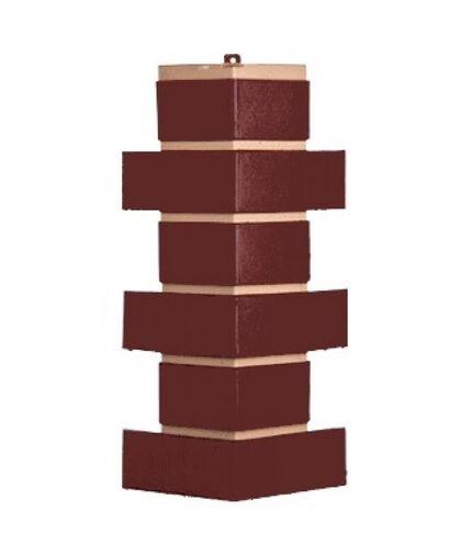 Угол наружный к Фасадным Панелям Т-Сайдинг (Техоснастка) Керамит (Кирпич Керамический) Коричневый