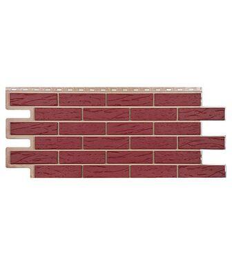 Фасадные панели Техоснастка Саман Красный