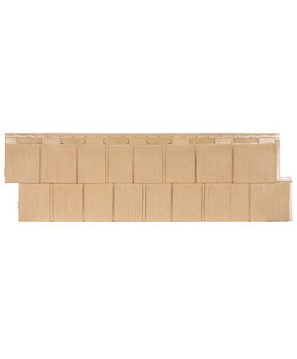 Фасадные панели (Цокольный Сайдинг) Т-Сайдинг (Техоснастка) ЭКО Щепа Пихта Крем