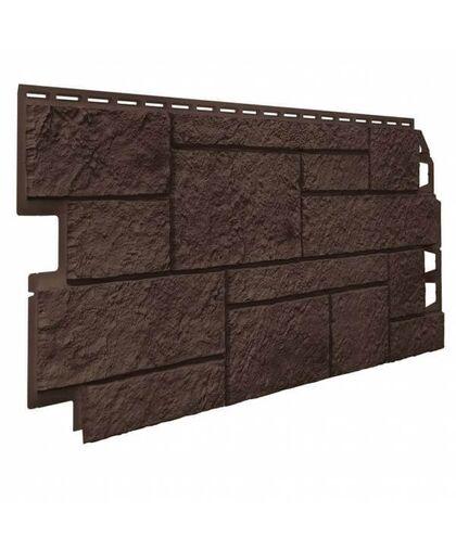 Фасадные панели (Цокольный Сайдинг) VOX Vilo Sandstone Dark brown (Темно-Коричневый)