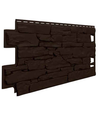 Фасадные панели (Цокольный Сайдинг) VOX Vilo Stone Темно-Коричневый